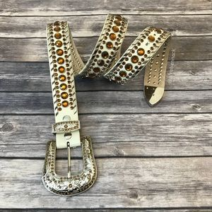 Western Bling Leather Belt